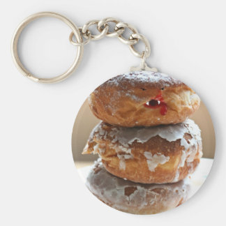 Vampire Donut Stack Key Ring