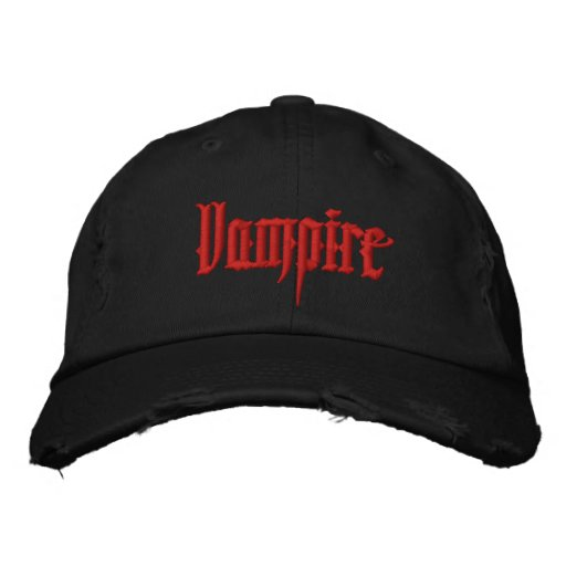Vampire Embroidered Hat