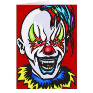 Vampire Evil Clown Stationery Note Card