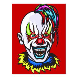 Vampire Evil Clown Postcard