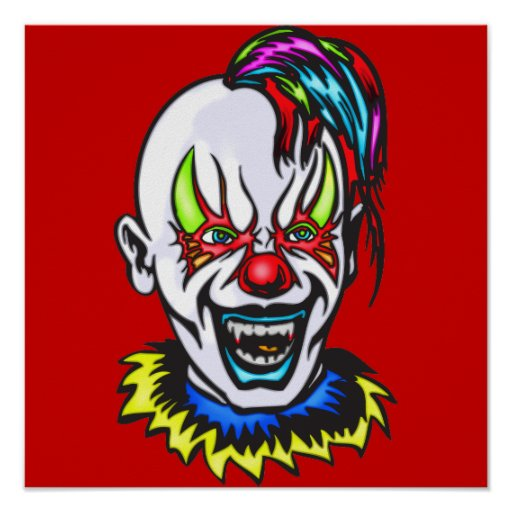 Vampire Evil Clown Print