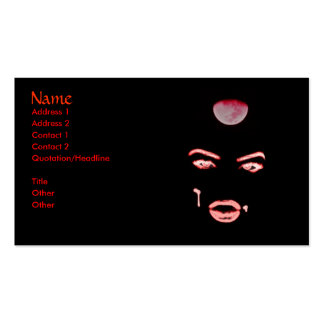Vampire Eyes Double-Sided Standard Business Cards (Pack Of 100)
