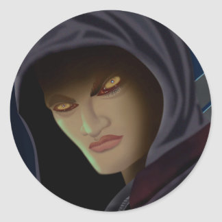 Vampire eyes classic round sticker