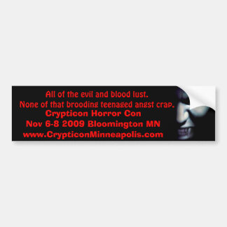 vampire-eyes-sm, All of the evil and blood lust... Bumper Sticker