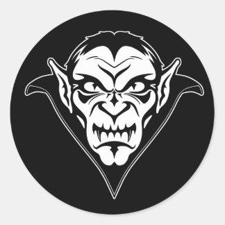 Vampire Face Classic Round Sticker