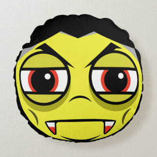 Vampire Face Round Cushion