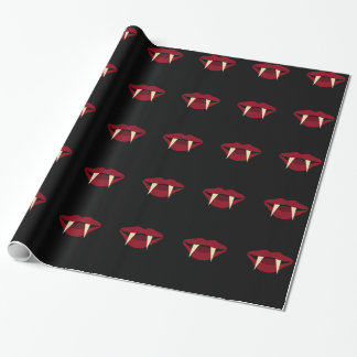 Vampire Fangs 2 Fun Halloween Wrapping Decor Paper