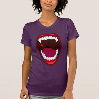 Vampire Fangs Horror Show Demon Teeth Red Purple Shirt