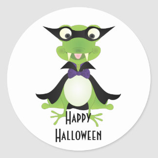 Vampire Frog Round Sticker