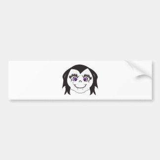 Vampire Girl Face Bumper Sticker
