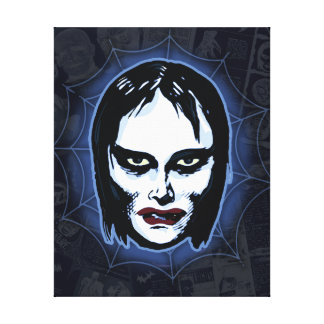 Vampire Girl (horror) Stretched Canvas Prints