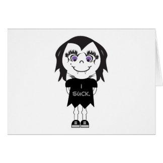 Vampire Girl I Suck Cards