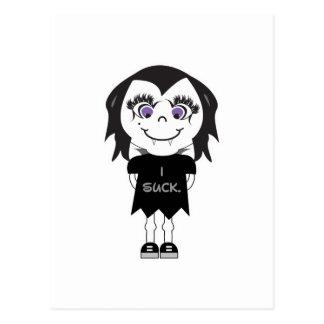 Vampire Girl I Suck Post Card