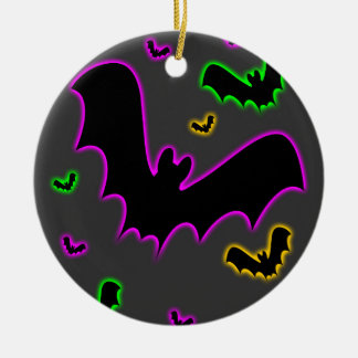 Vampire Glow Bats Gothic Christmas Ornament