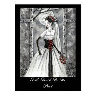 Vampire Gothic Art Postcard Till Death Do Us Part