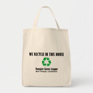 Vampire Green League - We Recycle Tote Bag