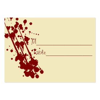 Vampire Halloween Fake Blood Wedding Placecards Pack Of Chubby Business Cards