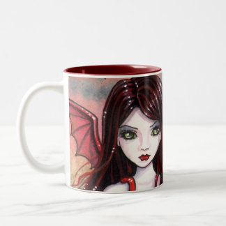 Vampire Halloween Mug by Molly Harrison