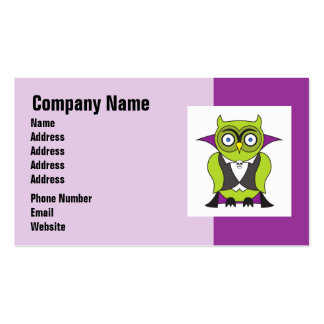 Vampire Halloween Owl Business Card Template
