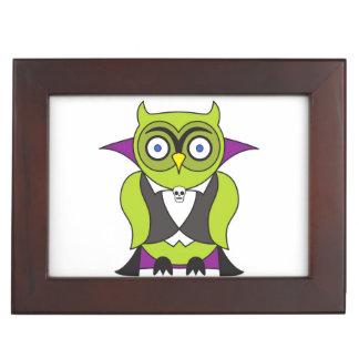 Vampire Halloween Owl Keepsake Box