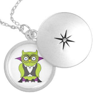Vampire Halloween Owl Pendants