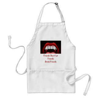 Vampire Halloween Teeth Adult Apron