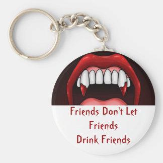 Vampire Halloween Teeth Key Ring
