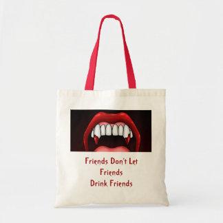 Vampire Halloween Teeth Tote Bag