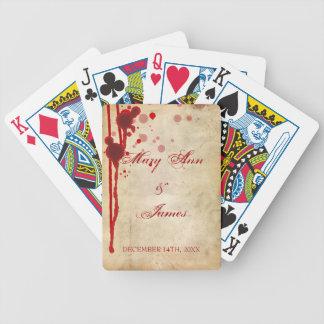 Vampire Halloween Wedding Favor Fake Blood Red Bicycle Playing Cards