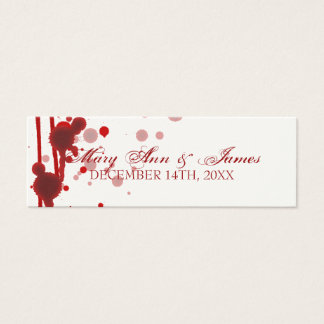 Vampire Halloween Wedding Favor Tag Fake Blood Red