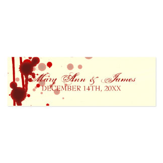 Vampire Halloween Wedding Favor Tag Fake Blood Red Business Card
