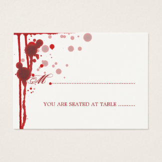 Vampire Halloween Wedding Placecards Fake Blood Business Card