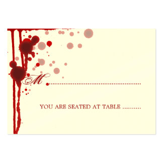 Vampire Halloween Wedding Placecards Fake Blood Business Cards