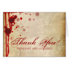 "Vampire Halloween Wedding ""Thank you"" Fake Blood Card"