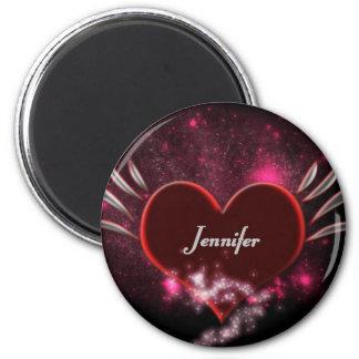 Vampire_Heart_Jennifer 6 Cm Round Magnet