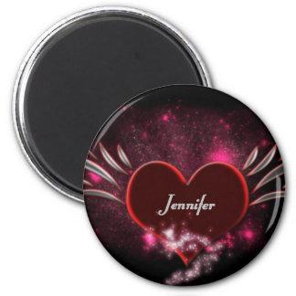 Vampire Heart Jennifer 6 Cm Round Magnet