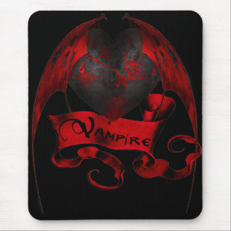 Vampire Heart Mouse Pad