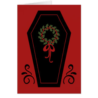 Vampire Holiday Coffin Card