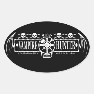 Vampire Hunter Oval Sticker