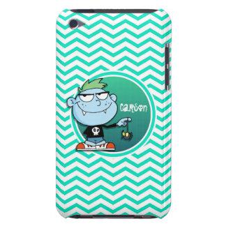 Vampire Kid; Aqua Green Chevron Barely There iPod Cases