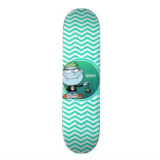 Vampire Kid Aqua Green Chevron Skateboard Decks
