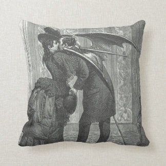 Vampire Kiss Victorian/Gothic Decorative Pillow