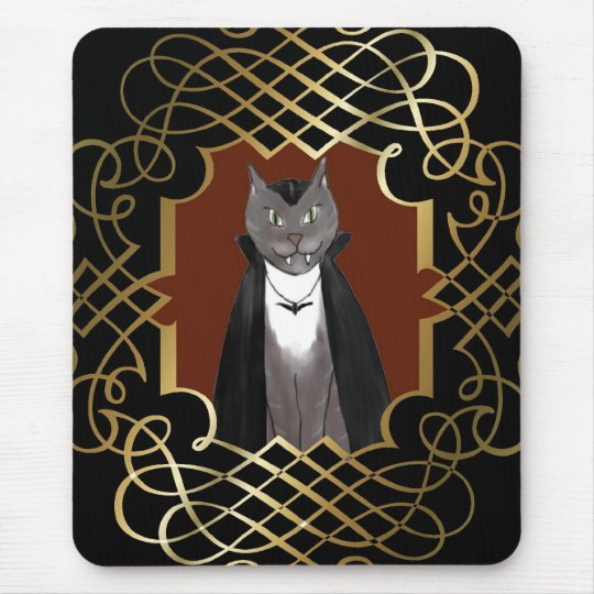 Vampire Kitty Portrait Mousepad