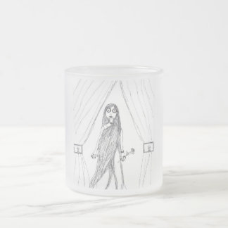 Vampire Lady Frosted Glass Mug