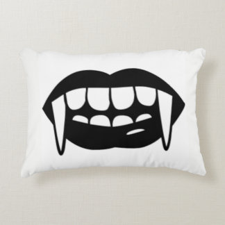Vampire Lips & Fangs Throw Pillow