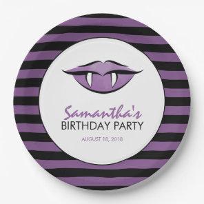 Vampire Lips Goth Birthday Party Paper Plates