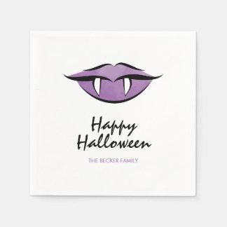 Vampire Lips Goth Happy Halloween Paper Napkins Disposable Serviette