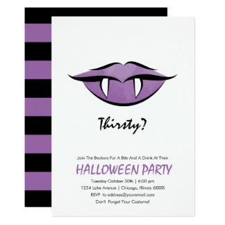 Vampire Lips Halloween Party Invitation Card