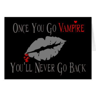 Vampire Love Greeting Card