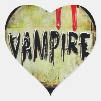 Vampire Love Heart Sticker